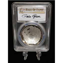 2014-P $1 Baseball Hall of Fame PCGS PR 70 DCAM Pete Rose Signed