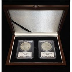 2001 $1 American Buffalo Set PCGS MS 69/PR 69 Roy Signed