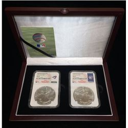 1992 & 1993 American Silver Eagle MLB Toronto Blue Jays NGC MS 69 World Series Champions Collector S