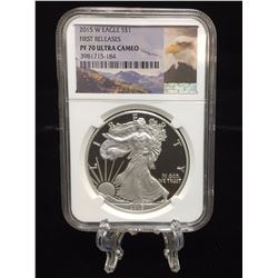 2015-W $1 American Silver Eagle West Point Mint NGC PF 70 Ultra Cameo First Releases
