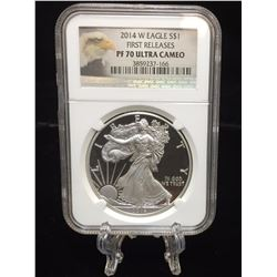 2014-W $1 American Silver Eagle West Point Mint NGC PF 70 Ultra Cameo First Releases