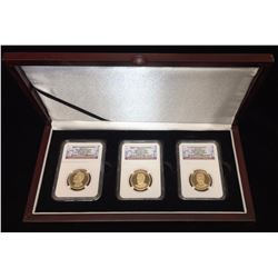 2016-S $1 U.S. Preseidential Proof Set NGC PF 70 Ultra Cameo Early Releases 3-Coin Set