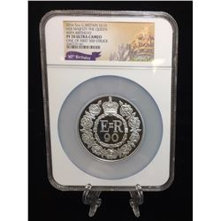 2016 5oz Great Britain 10 Pounds The 90th Birthday of Her Majesty The Queen NGC PF 70 Ultra Cameo On