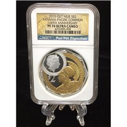 2015 $2 Niue Panama-Pacific International Exposition 100th Anniversary NGC PF 70 Ultra Cameo Gilt