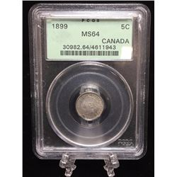 1899 Canada 5-Cents PCGS MS 64
