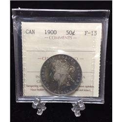 1900 Canada 50-Cents ICCS F 15 MS 631