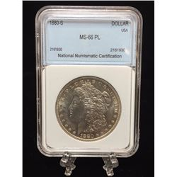 1880-S USA $1 Morgan Silver Dollar MS 66 PL