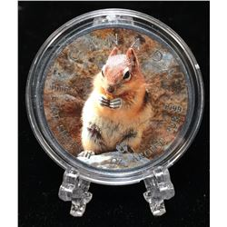 2016 1oz $5 Wildlife - Chipmunk