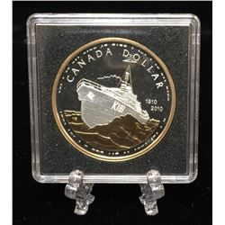 2010 $1 Canadian Navy Proof Silver Dollar Commemorative