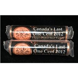 Lot of 2 - 2012 Canada 1-Cent Canada's Last One Cent 2012 Magentic