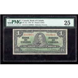 1937 Canada, Bank of Canada PMG VF 25
