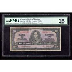 1937 $10 Canada, Bank of Canada PMG VF 25