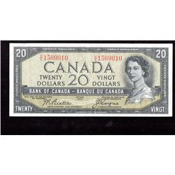 1954 $20 Canada, Bank of Canada Devil's Face EF-AU