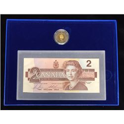 1996 $2 Proof Coin & Banknote Set