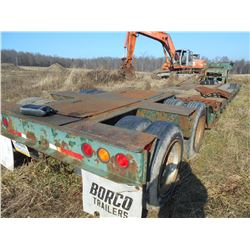 BORCO LOWBOY AIR RIDE 21 FT DECK TRAILER