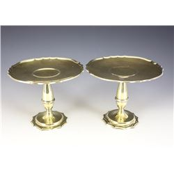 Pair of Gilt Sterling Compotes by Gorham