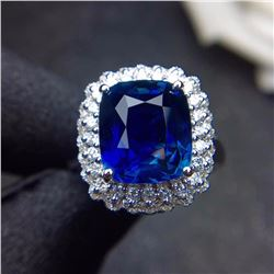 Natural Cushion Sapphire 6.11 Ct Ring/Pendant