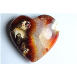 Natural Colorful Carnelian Heart 225 Carats