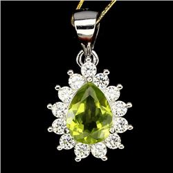 Natural Rain Drop Peridot 20x11 MM Pendant