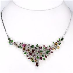 Stunning Multi Color Tourmaline Necklace