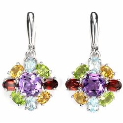 Natural Multi Gemstone EarRing