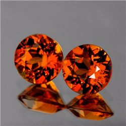 Natural Mandarin Orange Spessartite Garnet 7.00 MM- VVS