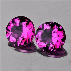 Natural Rhodolite Garnet Pair 6.00 MM - VVS