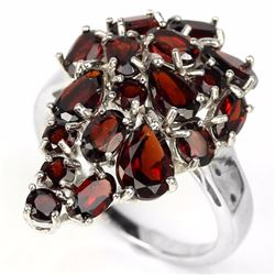 Natural Dark Red Garnet Ring