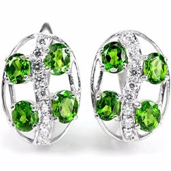 Natural Green Chrome Diopside EarRing