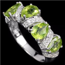 Natural Green Peridot Ring