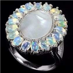 Natural Mother of Pearl & Opal Ring