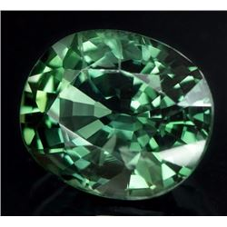 Natural Green Sapphire 2.27 Carats - Untreated - GIA Certified