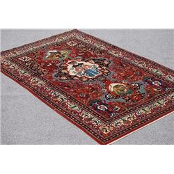LOVELY HANDMADE PICTORIAL SHAPOUR KASHAN RUG