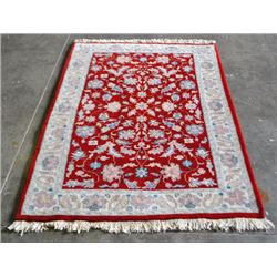 VERY DETAIL HAND MADE PERSIAN CONTEMP FLORAL FINE RUG