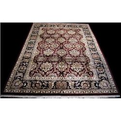 ABSOLUTELY STUNNING HANDMADE FLORAL MAHAL DESIGN RUG