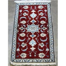 Fine Hand Woven Silk Blended Persian Nain rug 5x3