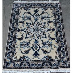 Handmade Wool/Silk Persian Nain 3x2