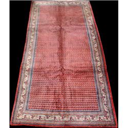 Semi Antique Gazelle Footprint Persian Sarouk Rug