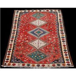 Fine Authentic Persian Shiraz Bolvardi Handmade Wool Rug