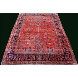 INVESTMENT MANCHESTER WOOL PERSIAN KASHAN CIRCA 1890