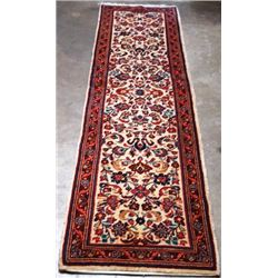 BEAUITFUL ALLOVER FLORAL PERSIAN SAROUK RUNNER