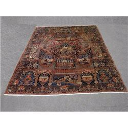 Superb Zirkhaki Pictorial Hand Made Persian Kashmar Rug