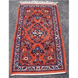 Gorgeous Design Hand Woven Semi Antique Persian Sarouk