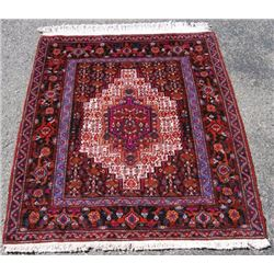 HAND WOVEN HIGHLY DETAILED SQUARE SHAPE PERSIAN SANANDAJ
