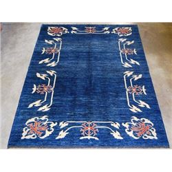 Gorgeous Open Field Ocean Blue Rug