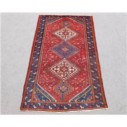 Beautiful Tribal Semi Antique Wool on Wool Persian Shiraz 5x10