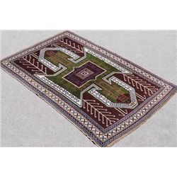 Handwoven Semi Antique Turkish Rug