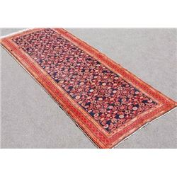 Beautiful Semi Antique Hand Woven Persian Nahavand Runner