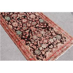 Highly Detailed Handmade Persian Sarouk Runner