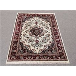 Gorgeous Wool and Silk Tabriz Design Rug
